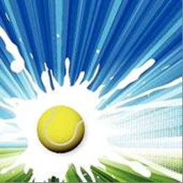 Tennis Ball Blue Splat