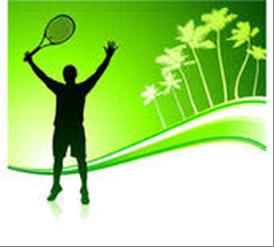 Tennis Player Green Background
