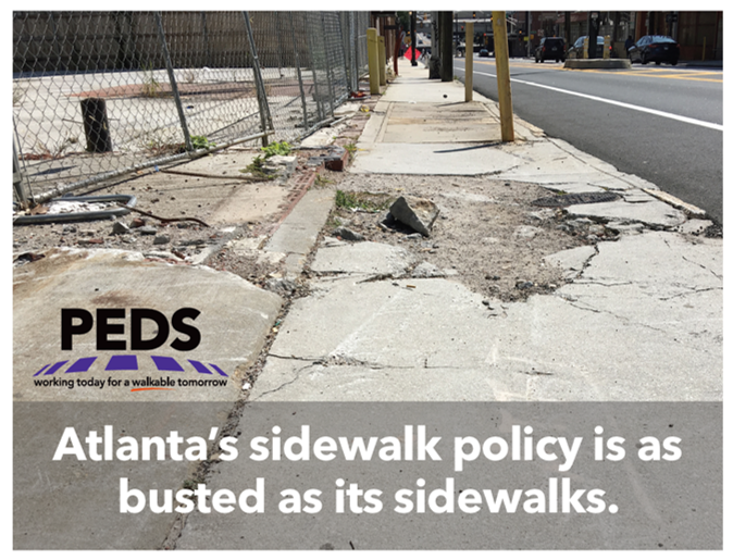 Sidewalk policy is busted