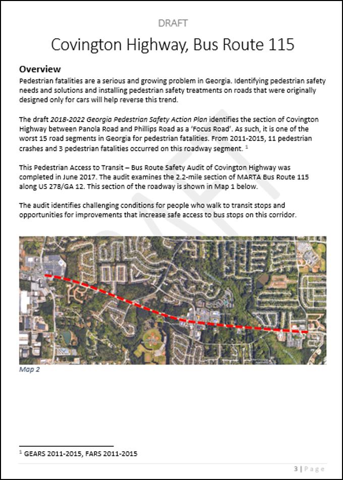 Draft Covington Highway Road Safety Audit
