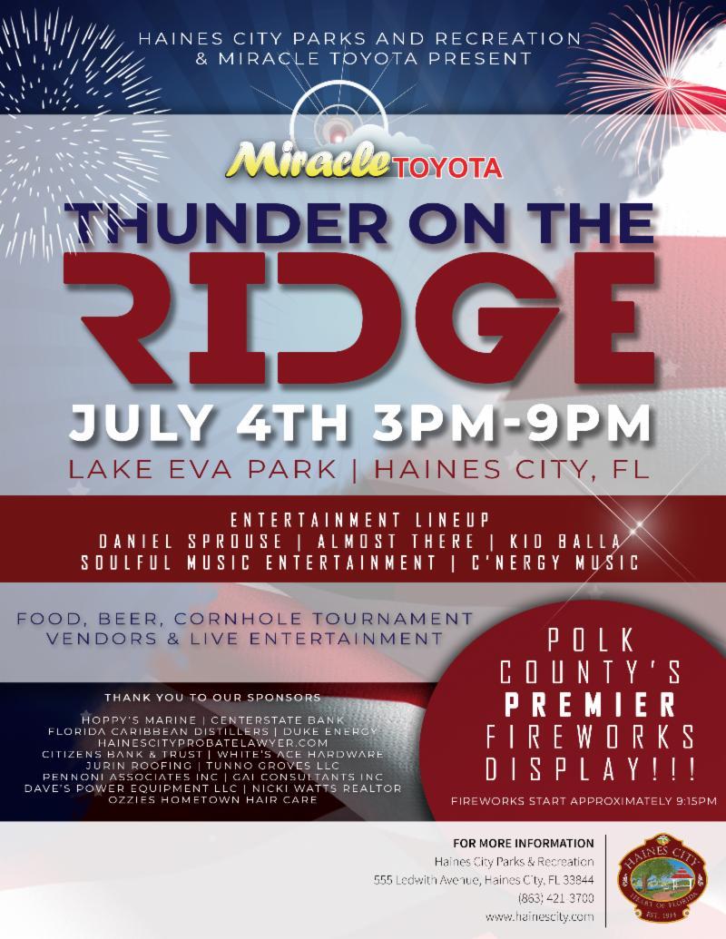Flyer for Thunder on the Ridge