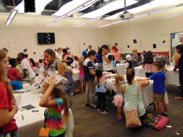 Photo of children attending summer reading kick-off program