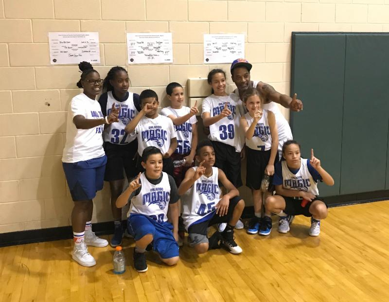 Photo of kids basketball team