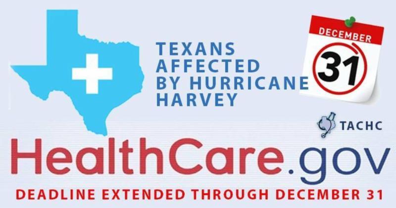 BREAKING NEWS!  ACA enrollment EXTENDED to 12/31 for Texans impacted by Hurricane Harvey! GO TO HEALTHCARE.GOV AND GET YOUR HEALTHCARE COVERAGE FOR 2018