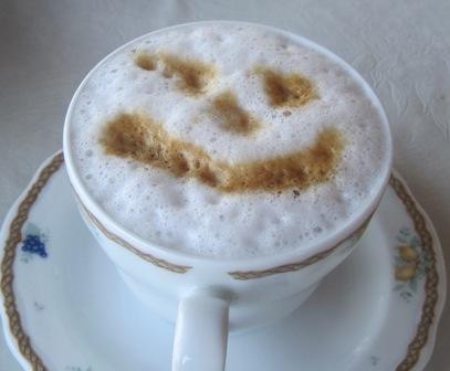 Cappucino smiley face
