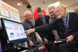 Resident of veterans home explores web-based kiosk