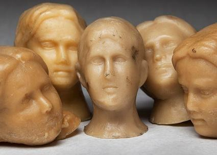 Wax heads from 1991 art installation