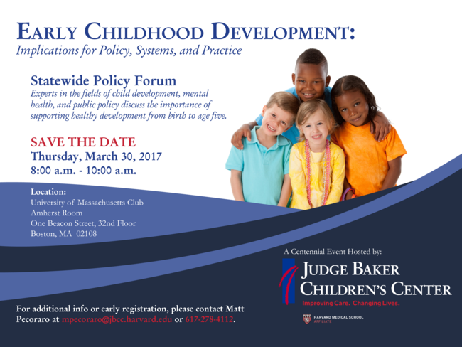 Early Childhood Development Statewide Policy Forum March 30, 2017