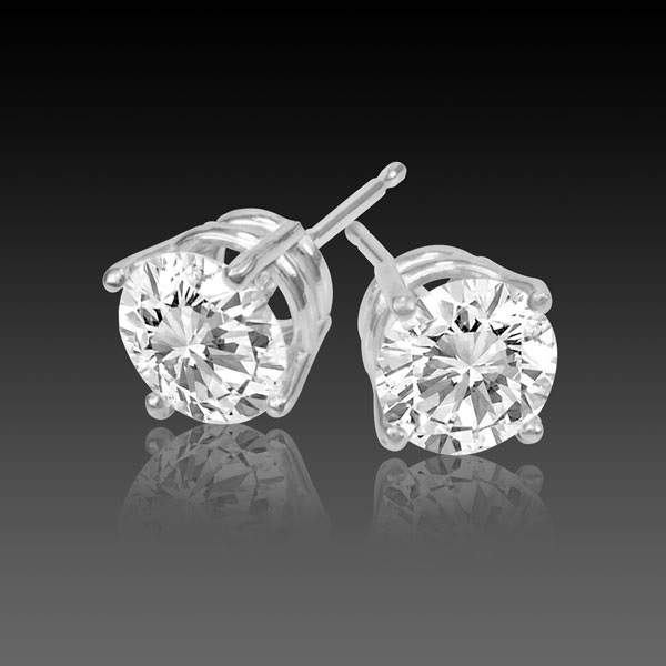 3 ½ Carat Diamond Stud Earrings Donated By Denney Jewelers