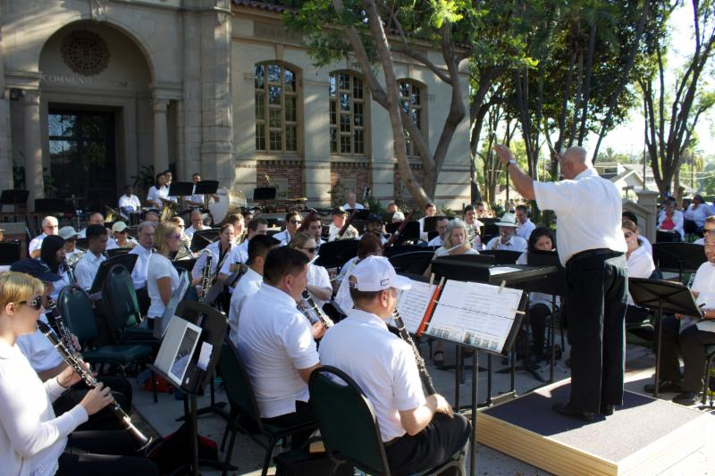 Picture of Colburn Adult Wind Symphony performing at South Pasadena Library Park