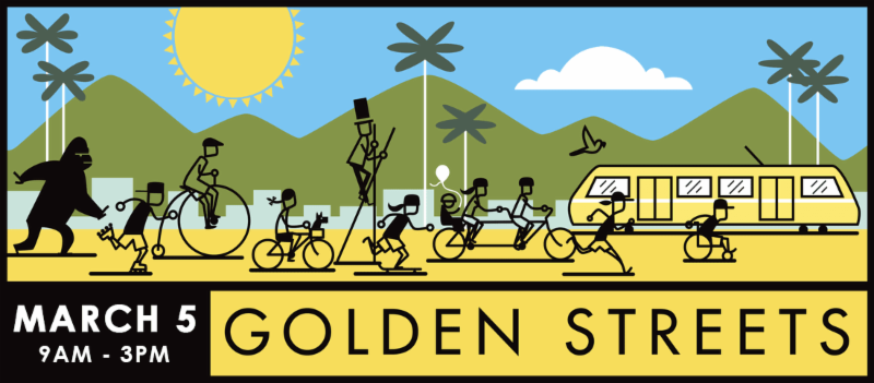 626 golden streets bicycle event