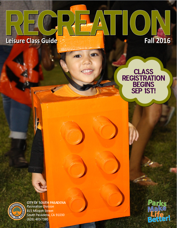 Recreation Leisure Class Guide Fall 2016 cover