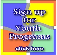 Sign stating _Sign up for Youth Programs - Click Here
