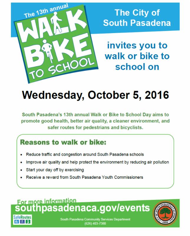 walk bike to school flyer