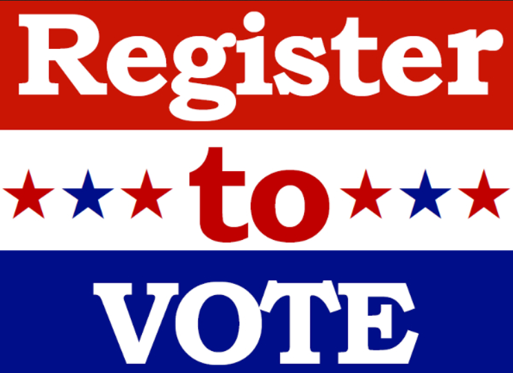Register to Vote red white and blue