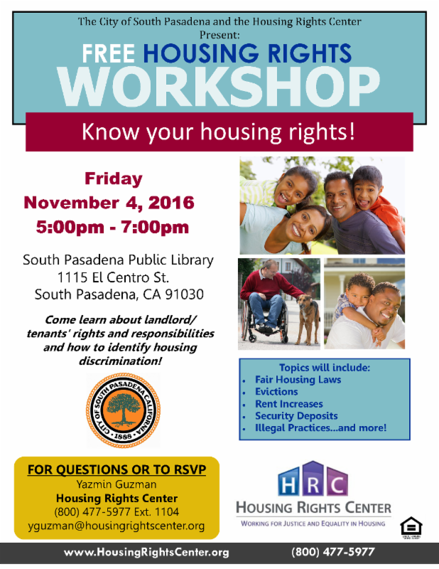 housing rights workshop 2016