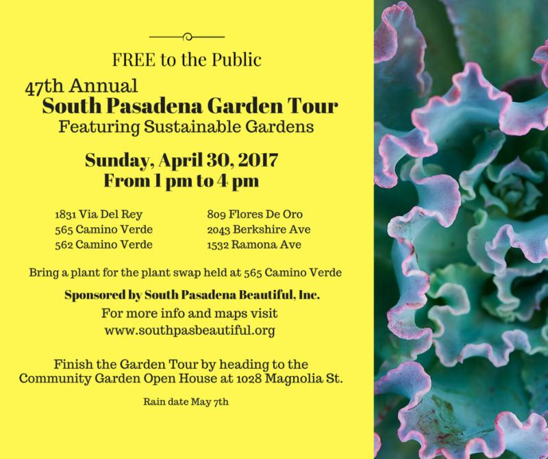 South Pasadena Beautiful Garden Tour
