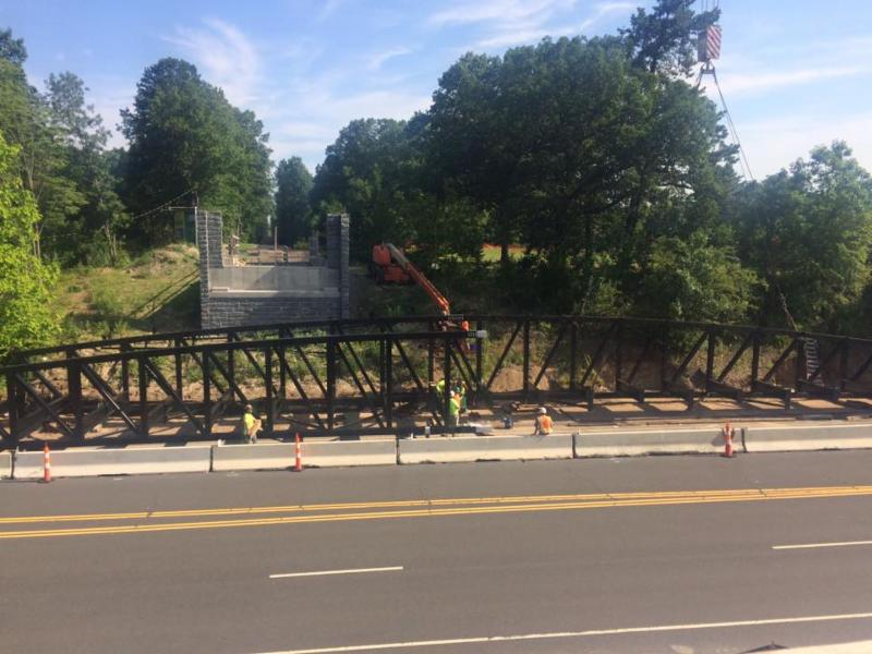 In other news about the corridor. As of today, Saturday July 22 this bike-ped bridge is being put into place over RT 6 in Farmington, CT.