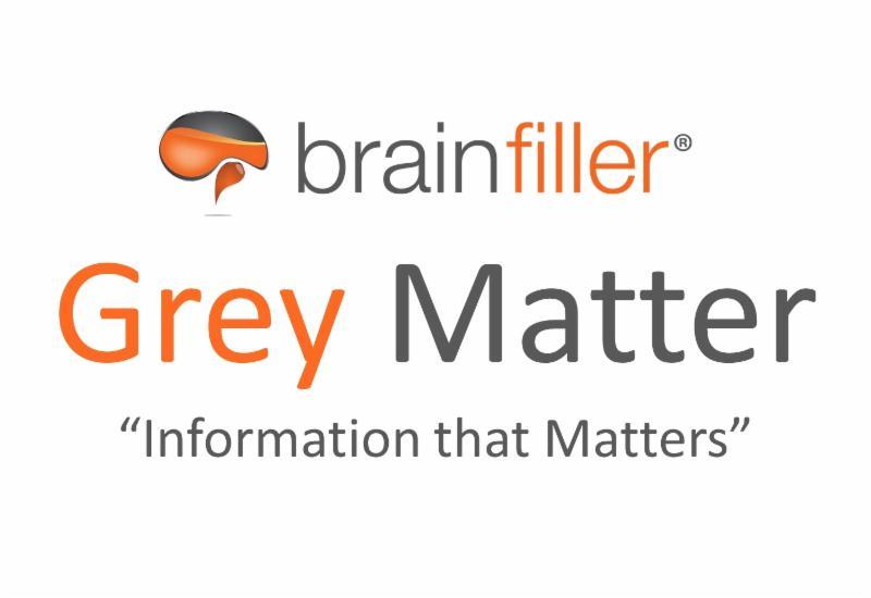 Brainfiller Grey Matter _Information that Matters_ newsletter logo