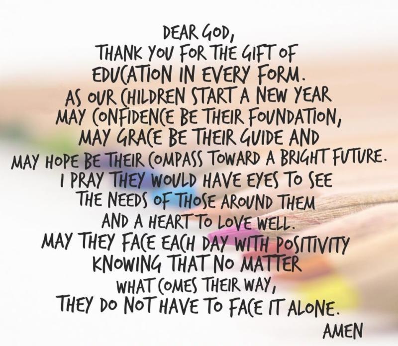 a student prayer