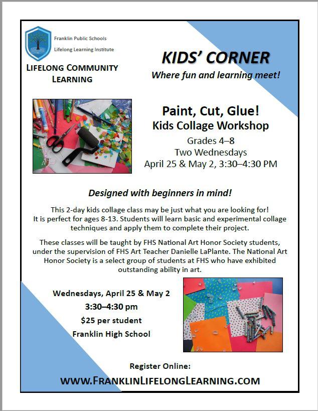 Paint, Cut, Glue! Kids Collage Workshop - Grades 4-8