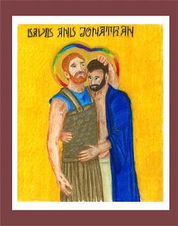 David and Jonathan by Katy Miles-Wallace