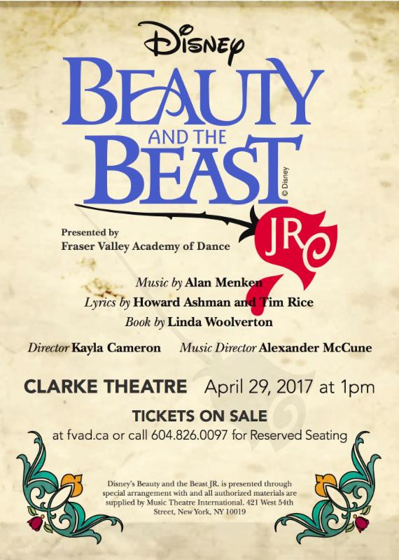 FVAD presents Disney's Beauty & the Beast JR