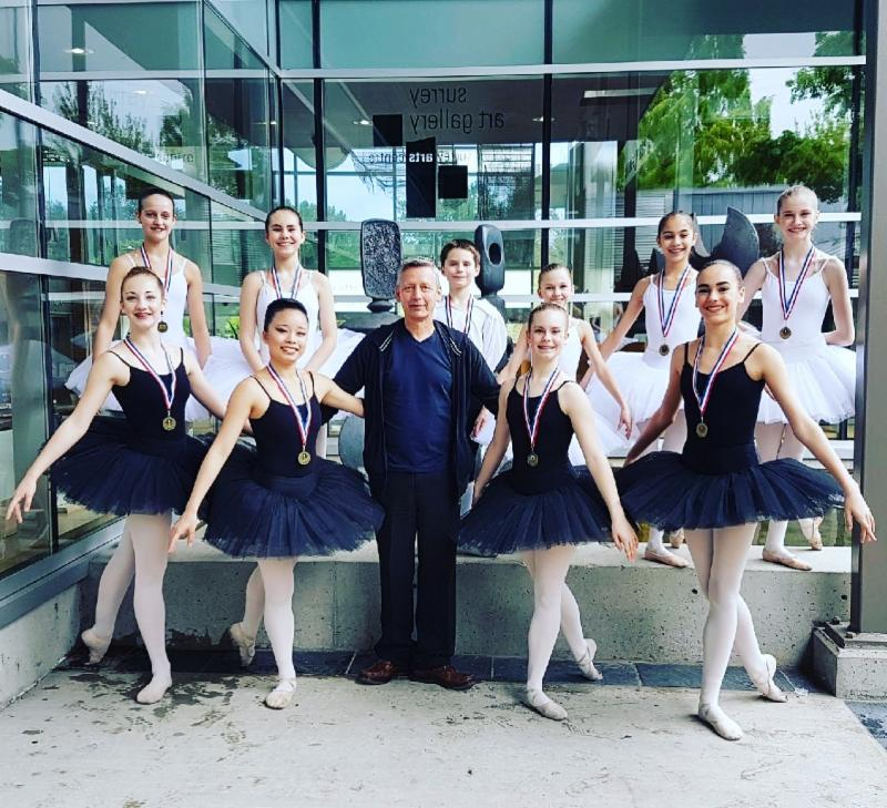 FVAD PPA students receive 1st place for Junior Ballet at the Surrey Festival 2017 No Borders Group Challenge.
