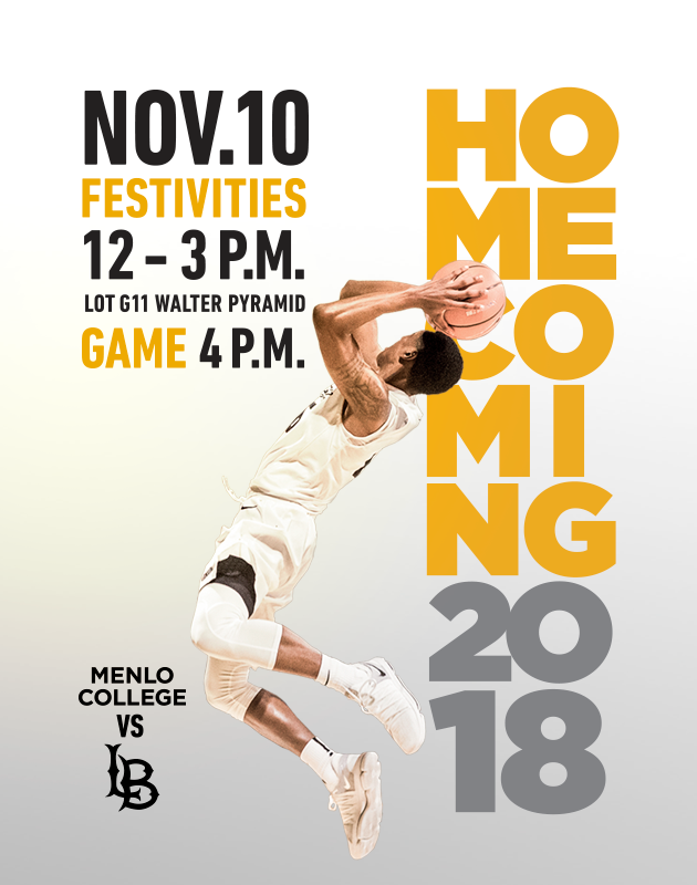 Homecoming on Saturday November 10 from 12 to 3 pm at the Walter Pyramid