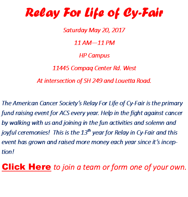 join us for a special event benefitting relay for life