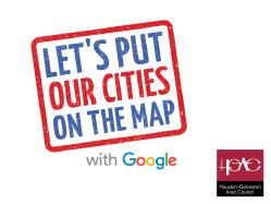 Google Put Cities on the Map Graphic