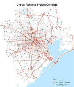 Critical Regional Freight Corridors Map