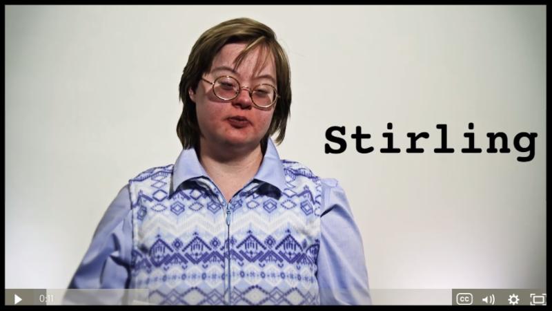 VT self-advocate Stirling