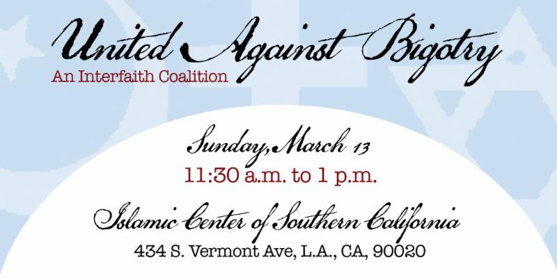 United Against Bigotry Banner