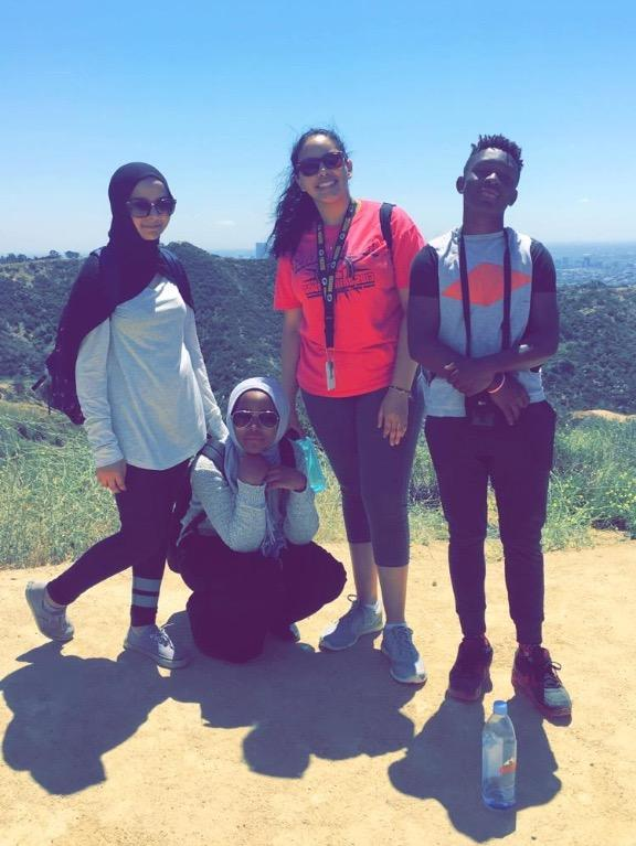 Photo MYG Members on their Hollywood Hike on Apr. 23