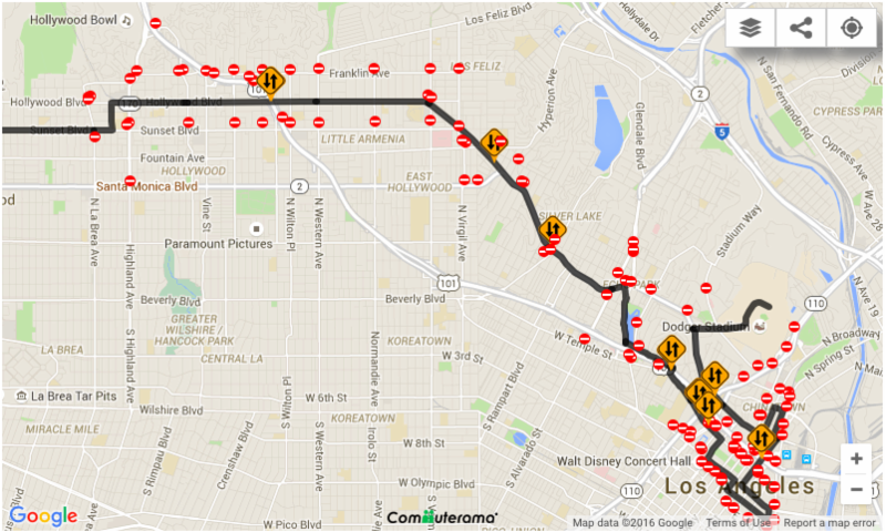 Map of L.A. Marathon