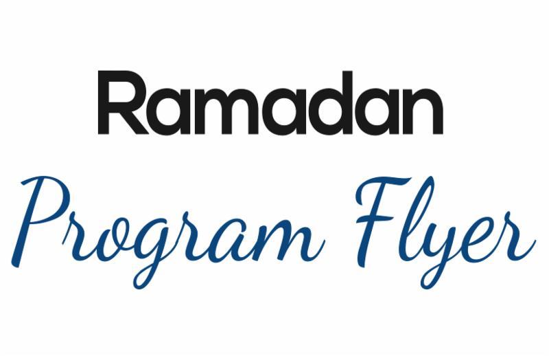 Ramadan Program Flyer