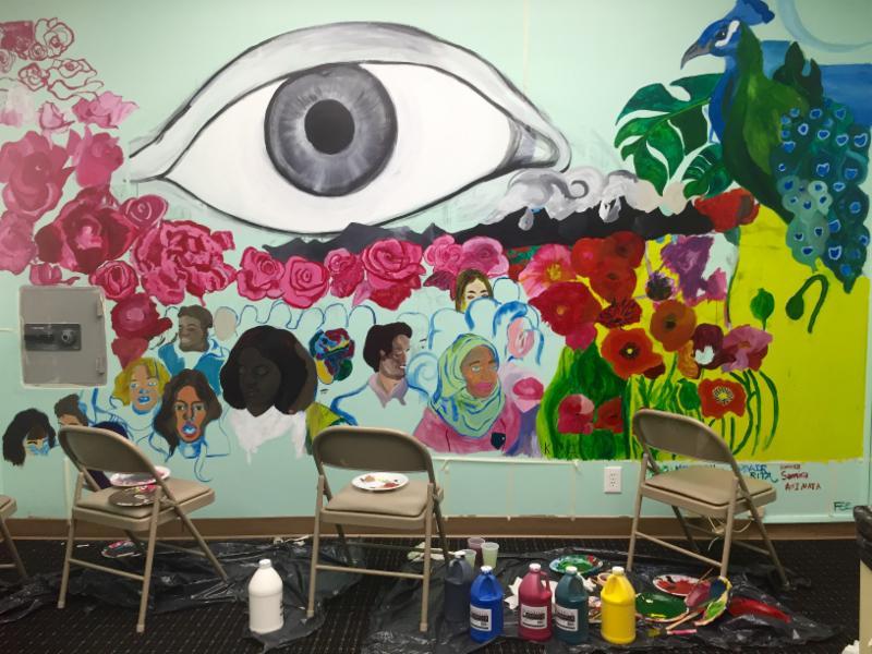 Photo of JYG mural process