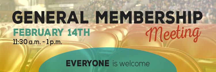 General Membership Meeting Banner