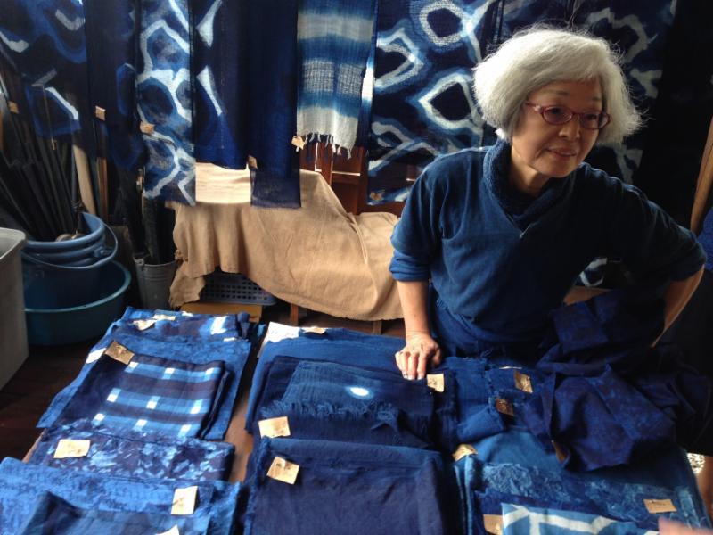 Indigo dyer Fumiko Satoh