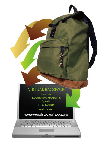 Virtual backpack logo