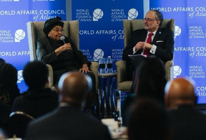 Former President of Liberia speaks at WAC Atlanta