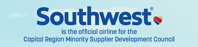 Southwest Airlines is the is the official airline for the Capital Region Minority Supplier Development Council