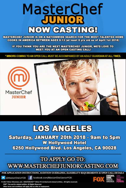 MasterChef Junior Casting Call