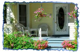 floral front porch