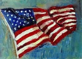 Peggy Brewer Flag Painting