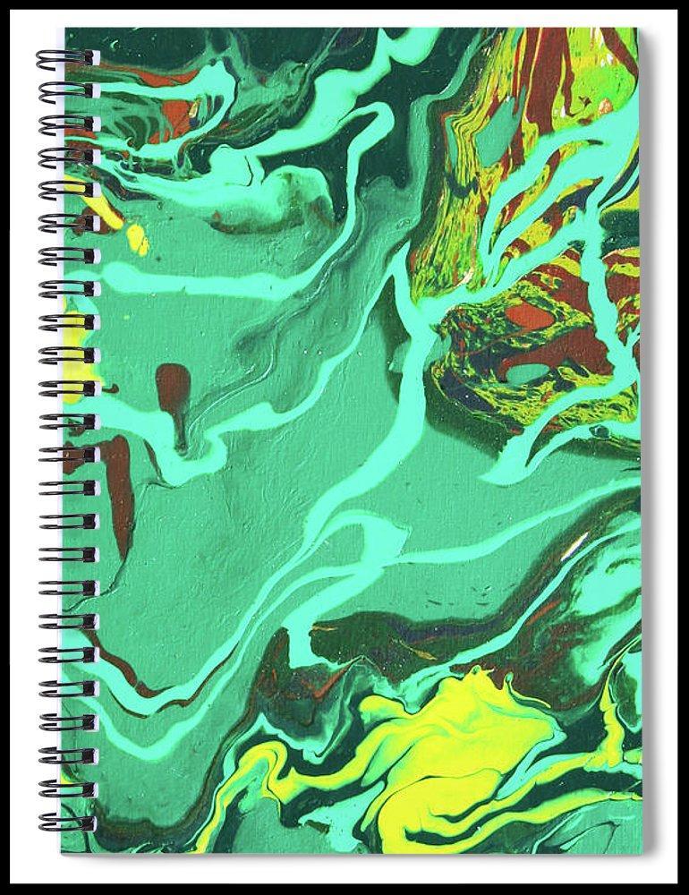 Malachite Spiral Notebook