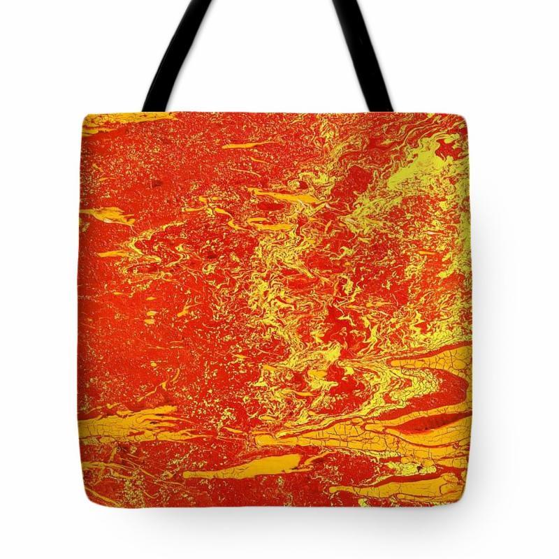 Crackling Fire tote bag