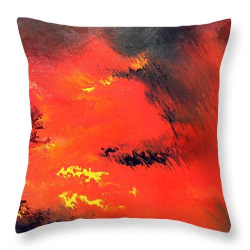 Raining Fire throw pillows