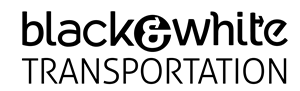 Black and White Transportation Logo